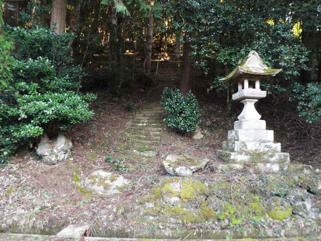 金山の神社跡